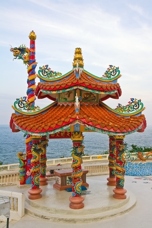 Chinese temple in Hua Hin , Thailand photo