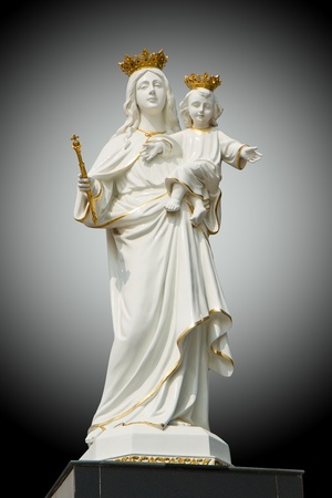 Virgin Mary (Mother Mary) with Baby Jesus  photo
