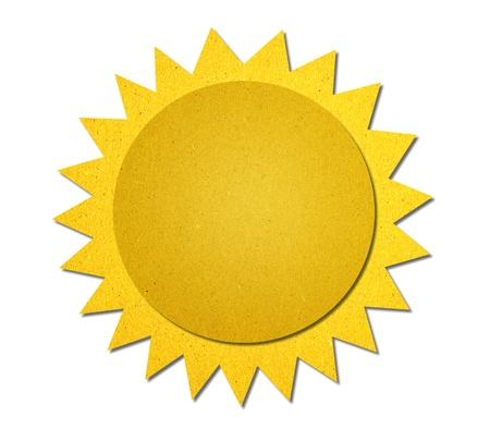zon maan: maan en sterren Het weer van gerecycled papier achtergrond