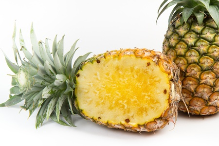 pineapple with slices photo