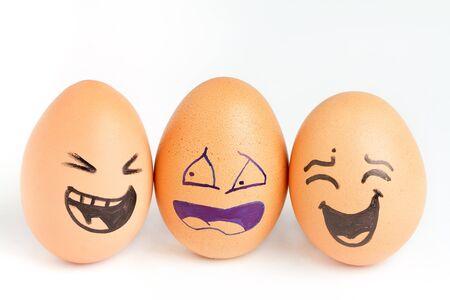 Eggs, smiling photo
