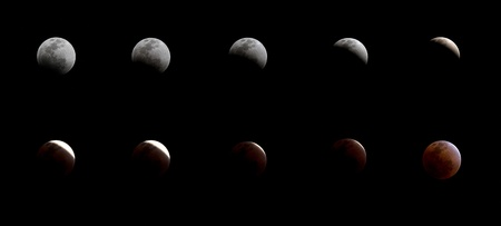 a series of total lunar eclipse photo