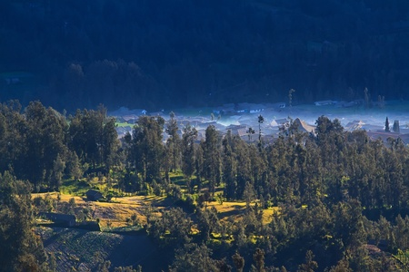 Village on a hill, Indonesia photo
