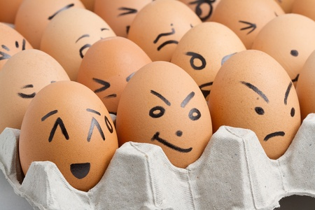 focus group: Eggs, smiling