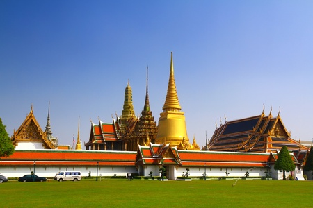 Wat Phra Kaew, Temple of the Emerald Buddha, Bangkok, Thailand. photo