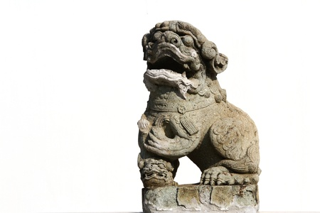 Chinese Lion on white background photo