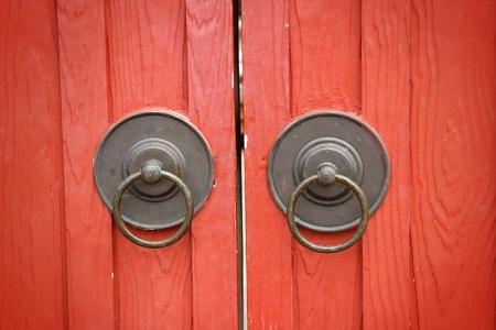 an old metal door handle knocker photo