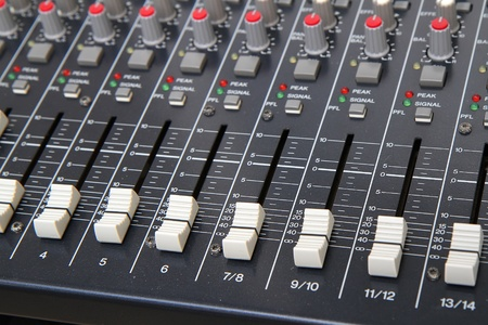 Sound mixer faders photo