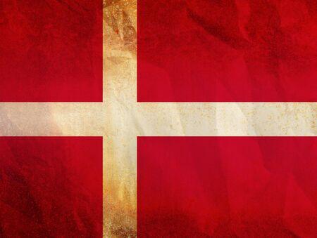 danish flag: Flag of Denmark Stock Photo