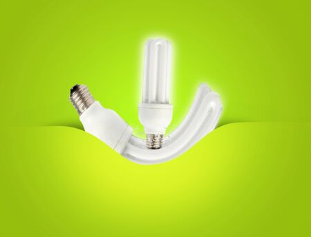 a modern energy-saving lightbulb ideal for ecology, energy concepts  photo