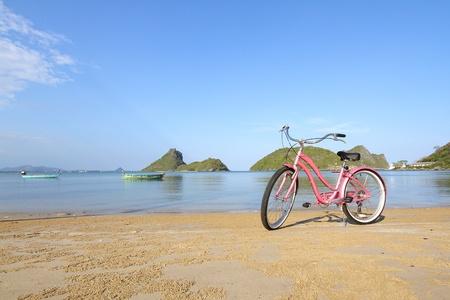 Bike at the beach, Thailand photo