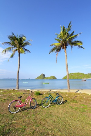 Bicycle at the beach, Thailand photo