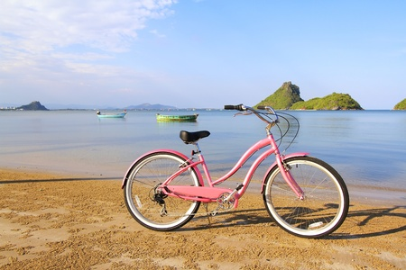 Bicycle at the beach, Thailand Stock Photo - 12163693