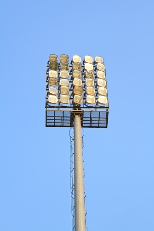 Stadium lights on the sky photo
