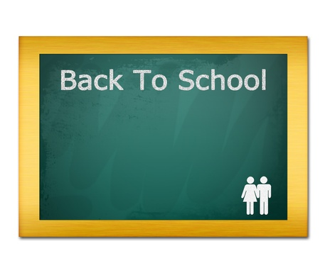 back to school on green board  photo