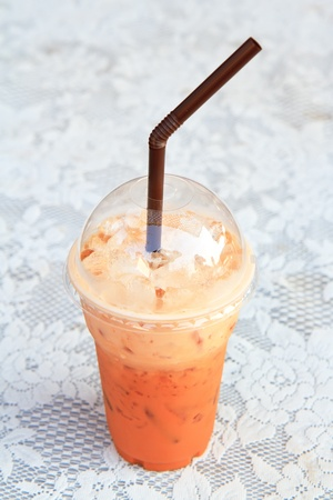 iced milk tea photo