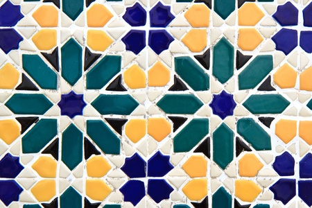 colorful moroccan mosaic wall photo