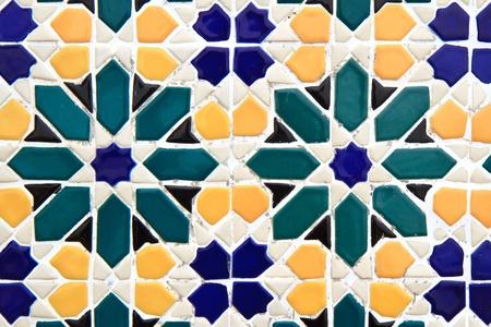 colorful moroccan mosaic wall photo