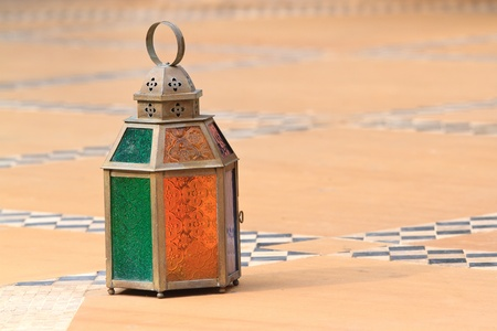 traditional moroccan lantern for candle photo