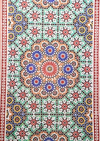 moroccan culture: colorful moroccan mosaic wall