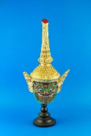 close up face of Khon classical Thai dancing Stock Photo - 12916508
