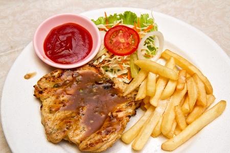Grilled Chicken Steak Stock Photo - 12917085