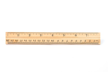 inches: Wooden Ruler