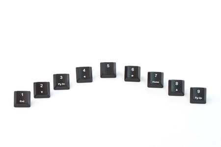 Black keyboard buttons photo