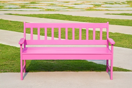 pink chair in the park Stock Photo - 12917364
