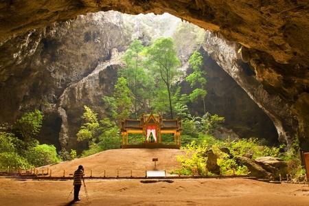 hin: Pavillon in Phraya Nakorn cave nearby Hua Hin , Thailand . National Park Khao Sam Roi Yot
