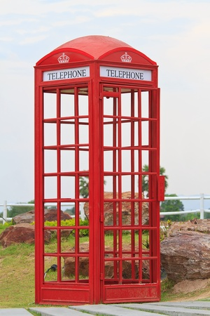 red phone box photo