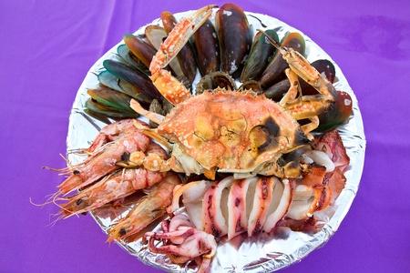 serape:  grilled seafood Stock Photo