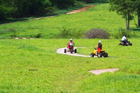 A quad bike ride in nature photo