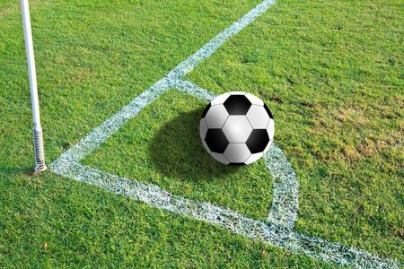 Soccer ball on the field Stock Photo - 14415613