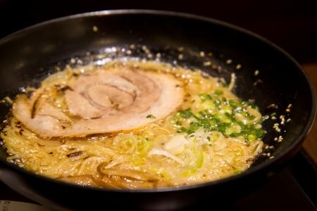 japanese ramen noodles with tonkotsu(pork bone broth) soup , tonkotsu ramen photo