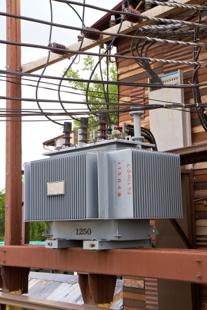 transformer in substation