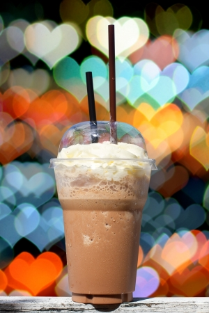 Iced Mocha Coffee with Whipped Cream photo
