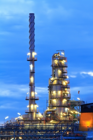 Oil refinery at twilight Stock Photo - 14972162