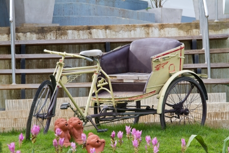 antique tricycle: Tricycle bicycle antique in thailand