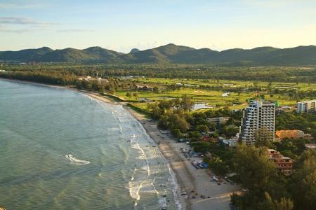 hin: Khao Takiab Hua Hin beach,Thailand Stock Photo