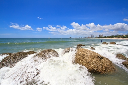 hin: Beautiful Hua Hin beach,Thailand Stock Photo