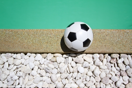 swimming pool and ball  photo