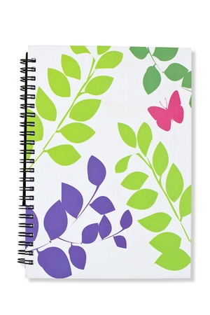 blank book cover: Gree blank book cover white Stock Photo
