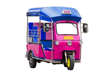traditional pink Tuk Tuk  of Thailand