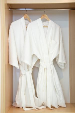 white robe: Two bathrobes