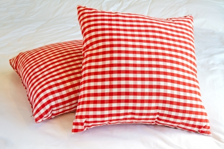 throw cushion: Pillow red and white