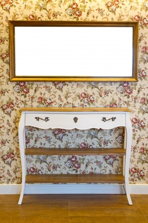 Elegant dressing table and mirror photo