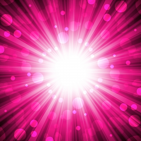 implode: explosion on abstract pink  background