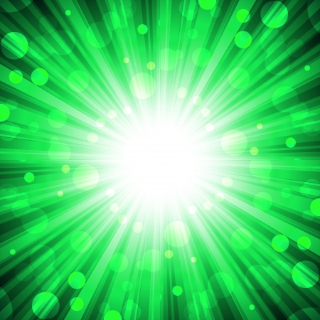 implode: explosion on abstract green background