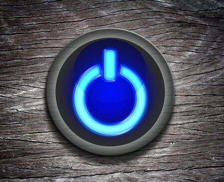 power button icon on  Wood Texture photo